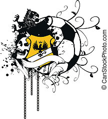 heraldic soccer coat of arms 3