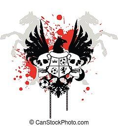 heraldic soccer coat of arms 6
