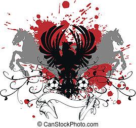 heraldic soccer coat of arms 9