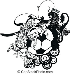 heraldic soccer coat of arms crest1