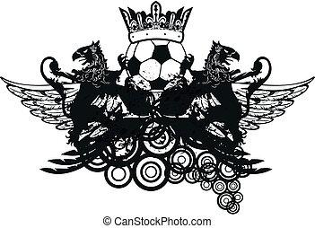 heraldic soccer coat of arms crest7