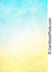 Hi-Key Yellow Blue Background
