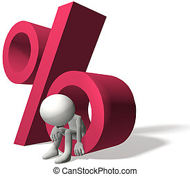 A 3D borrower is hurt by interest rate percent on personal debt or investment