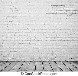 High resolution white brick room