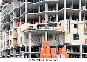 High-rise building mode of concrete under construction