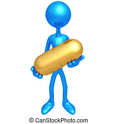 Holding Giant Pill
