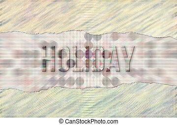 Holiday conceptual words with abstract overlapping shape pattern as background. Wallpaper, tools, alphabet & text.