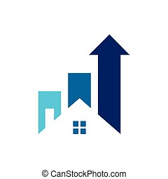 home chart up arrow logo icon