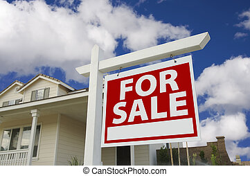 Home For Sale Sign & New Home