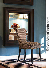 Home interior with design chair