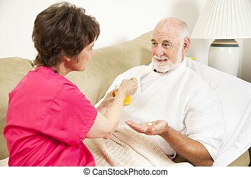 Home Nursing - Take Medicine
