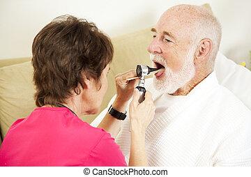 Home Nursing - Throat Check