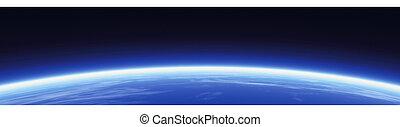 Horizon and world map. World map banner illustration. Tehcnology banner. Global-header. Header