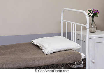 Hospital bed in the room