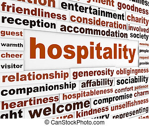 Hospitality creative words concept