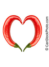 hot peppers with heart