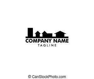 House, Home, Mortgage, Real Estate Silhouette Logo Design Vector Icon