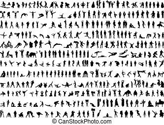 381 human silhouettes