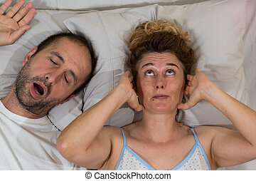 Husband snoring