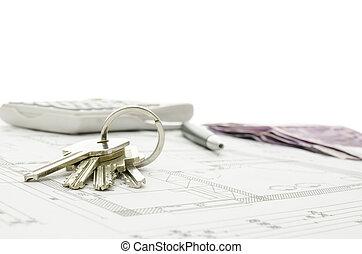 Huse keys on blueprint