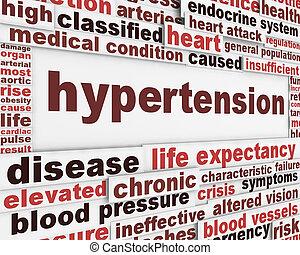 Hypertension medical poster design