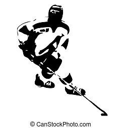 Ice hockey silhouette