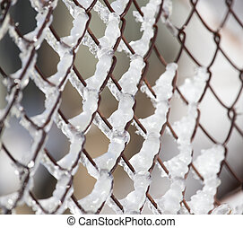 Ice on the fence