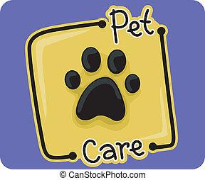 Icon Illustration Representing Pet Care