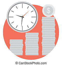Icon money and time