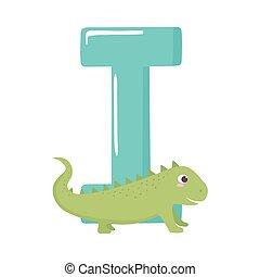 iguana animal alphabet