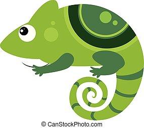 Iguana. Funny Alphabet, Animal Vector Illustration