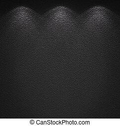 Illuminated texture of the grey wall