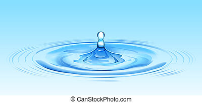 illustration drawing of beautiful blue water ripples