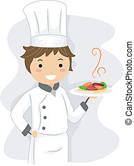 Illustration of a Chef at Work