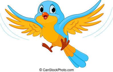 Illustration of happy Flying bird