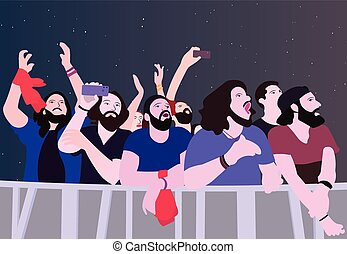 Illustration of people partying in color