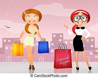 illustration of personal shopper