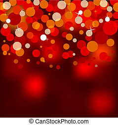 illustration of red christmas lights