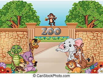 zoo and animals in a beautiful nature