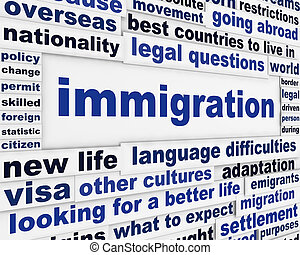 Immigration creative words