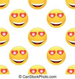 In love emoticon pattern
