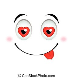 In love emoticon sign