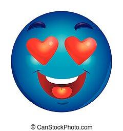 In love emoticon.