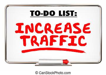 Increase Traffic More Visits Web Internet Store 3d Illustration