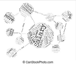 Increase Your Value Increase Your Salary text background word cloud concept