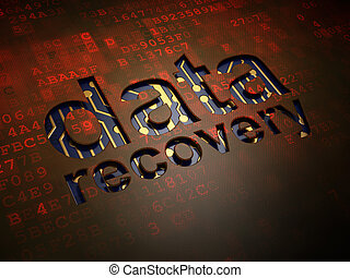 Information concept: digital screen with word Data Recovery, 3d render