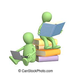 Conceptual 3d image - information search