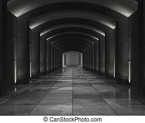 Interior concrete vault