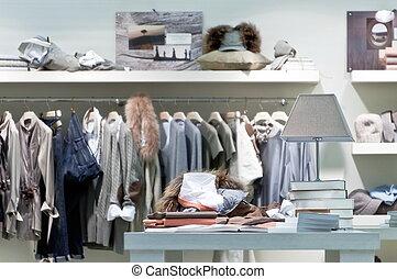 Internal clothing retail store