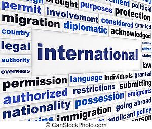 International political message